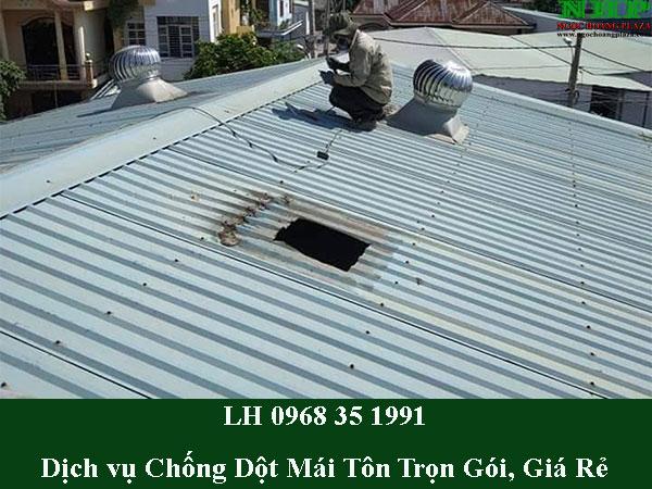 Dịch vụ chống dột mái tôn trọn gói, thi công giá rẻ