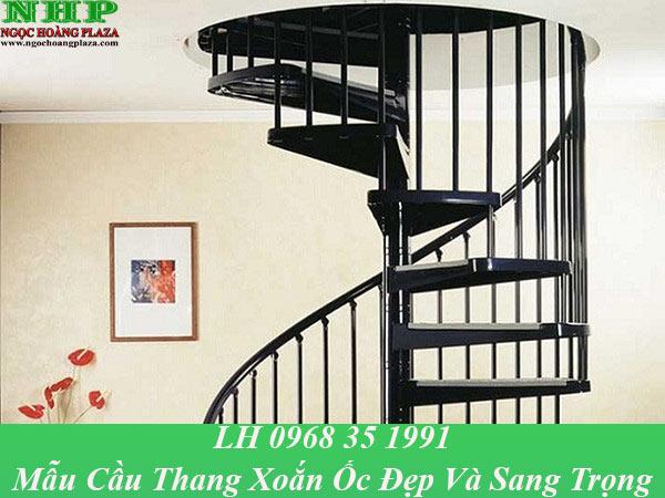 Mẫu cầu thang xoắn ốc đẹp, thiết kế tiết kiệm không gian căn nhà