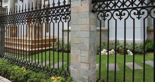 Mẫu hàng rào sắt mỹ thuật với thiết kế hiện đại