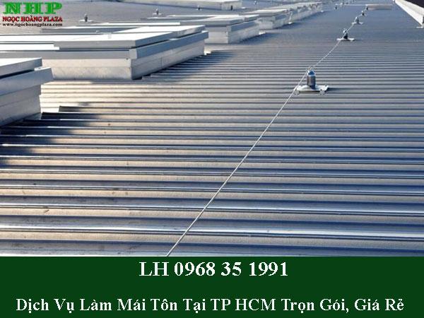 Dịch vụ làm mái tôn tại TP HCM giá rẻ
