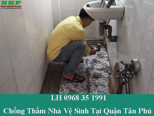 Chống thấm nhà vệ sinh tại quận tân phú giá rẻ