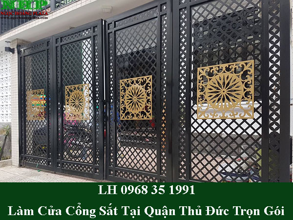 Dịch vụ làm cửa cổng sắt tại quận thủ đức giá rẻ