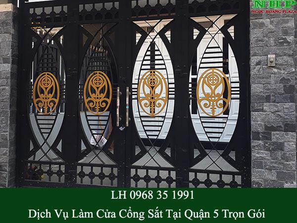 Thi công cửa cổng sắt nghệ thuật tại quận 5 giá rẻ