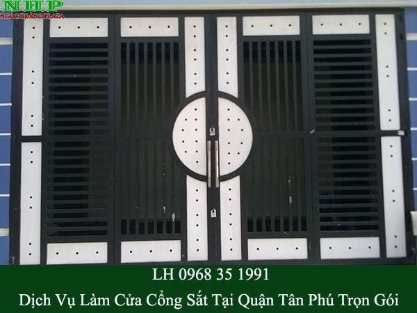 Làm cửa cổng sắt tại quận tân phú trọn gói
