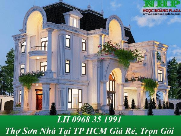 Thợ sơn nhà tại TP HCM giá rẻ, thi công sơn nhà đẹp nhất
