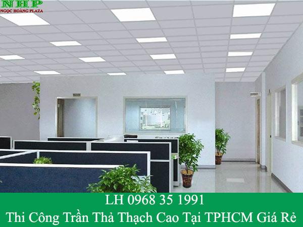 Thi công trần thả thạch cao tại TP HCM giá rẻ